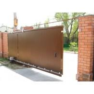 Алюминиевые откатные ворота Алютех